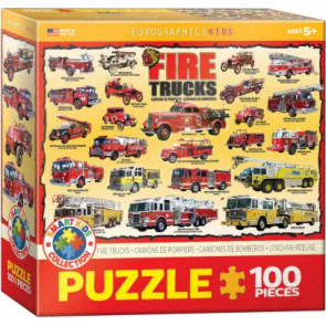 EUROGRAPHICS PUZZLES Fire Trucks Collage Puzzle (100pc)