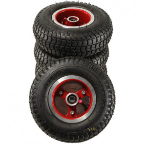 Road Wheels, Full Set - Spoked Rim Red (Street Surfer)