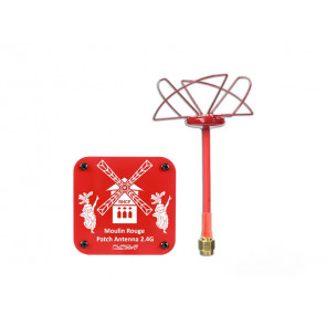 FURIOUS FPV Circular Antenna 2.4 GHz and Moulin Rouge Patch antenna 2.4GHz-RHCP-SMA