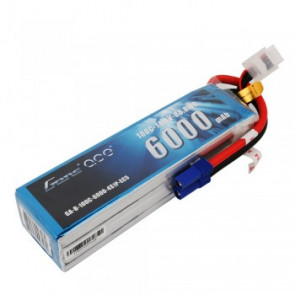 Gens ace 6000mAh 14.8V 100C 4S1P LiPo Battery Pack with EC5 Plug