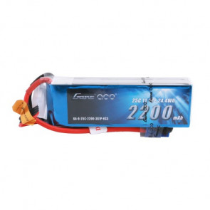 Gens ace 2200mAh 3S 11.1V 25C Lipo Battery Pack with EC3 Plug