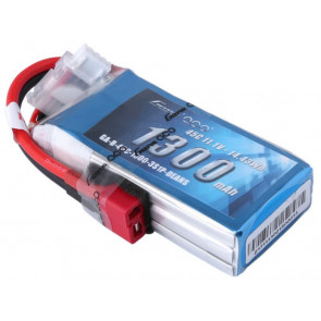 Gens Ace 3S 1300mAh 11.1V 45C Lipo Battery Pack with Deans Plug