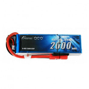 Gens ace 2600mAh 4S 14.8V 45C Lipo Battery Pack with Deans Plug