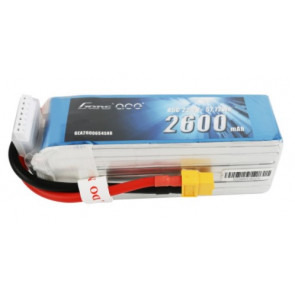 Gens ace 2600mAh 6S 22.2V 45C Lipo Battery Pack with XT60 PlugC XT60