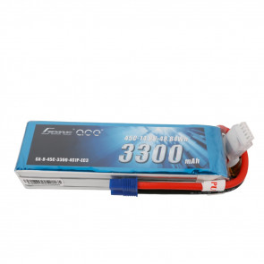 Gens ace 3300mAh 14.8V 45C 4S1P Lipo Battery Pack with EC3