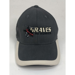 GRAVES RC HOBBIES Helicopter Hat, Charcoal/Beige
