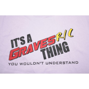 GRAVES RC HOBBIES Helicopter T-Shirt, Purple