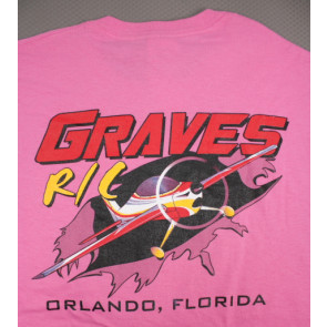 Graves RC Hobbies Airplane T-Shirt, Pink