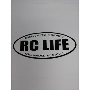 GRAVES RC LIFE BLACK STICKER