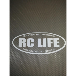 GRAVES RC LIFE WHITE STICKER