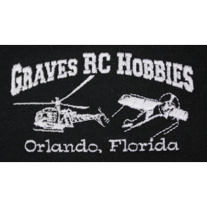 GRAVES RC HOBBIES Zip Up Hoodie, Black, 2XL