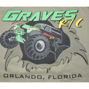 Graves RC Hobbies Car T-Shirt, Green, Large