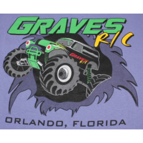 Graves RC Hobbies Car T-Shirt, Purple