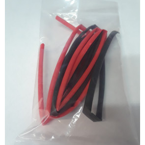 GRAVES RC HOBBIES HEATSHRINK 3MM BLK/RD 3FT