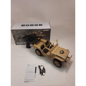 JJ R/C 1:10 2.4G 4WD RC Off-Road Military Truck - Tan