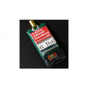 ImmersionRC RaceBand 200mW, 5.8GHz, 15-Channel A/V Transmitter