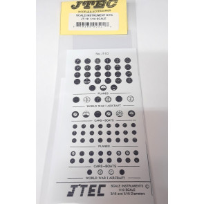 Jtec Scale Instrument Kit 1/10 Scale