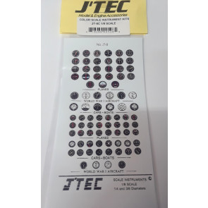 JTEC INSTRUMENT KIT COLOR 1/8 SCALE