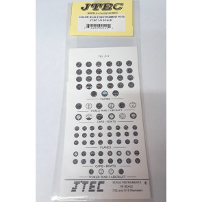 JTEC INSTRUMENT KIT COLOR 1/9 SCALE