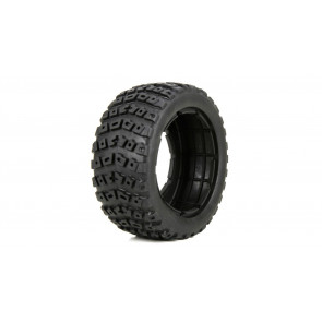 LOSI Left & Right Tire Set & Foam Insert (2): 1/5 DB XL