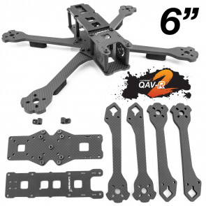 Lumenier QAV-R 2 Slam Freestyle Quadcopter Frame - 6""