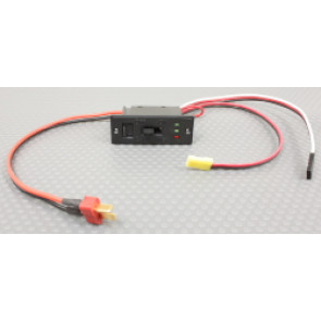 MPI HD Charge switch w/ LED Indicator for 7.4 volt LiPoly/Li-ion cells w/ genuine Dean's plugs & Dual Universal RX Plugs