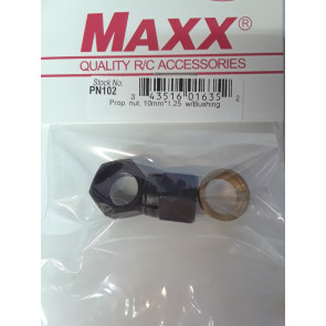 MAXX PRODUCTS PROP NUT 10MM-1.25 10MM WITH BUSHING
