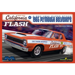 "Moebius 1965 Plymouth Belvedere ""California Flash"" 1/25 Scale Plastic Model"