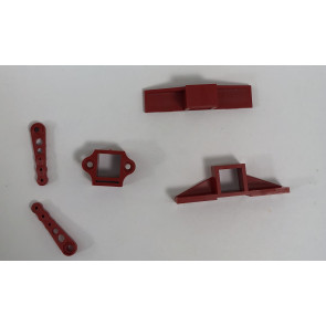 Millennium RC X-Fuse Servo Mount, Red, No Hardware