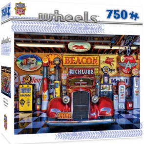 MASTERPIECES PUZZLES Wheels: At Your Service Classic Car Puzzle (750pc)