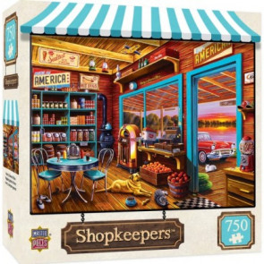MASTERPIECES PUZZLES Shopkeepers: Henry's General Store Puzzle (750pc)
