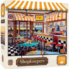 MASTERPIECES PUZZLES Shopkeepers: Pop's Soda Fountain Puzzle (750pc)