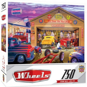 MASTERPIECES PUZZLES Wheels: Old Timer's Hot Rods Puzzle (750pc)