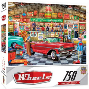 MASTERPIECES PUZZLES Wheels: The Auctioneer Classic Cars Puzzle (750pc)