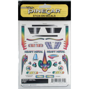 PineCar Heavy Metal Stick-on Decal