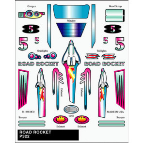 PineCar Road Rocket Stick-on Decal