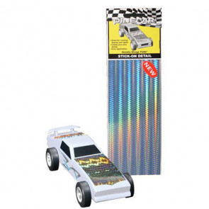 PineCar Metallic Mirage Stick-On Details