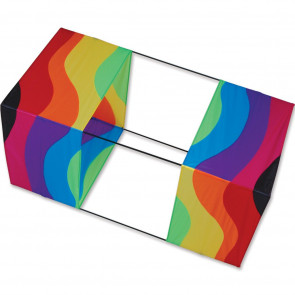 Premier Kites 40 in. Box Kite - Wavy Rainbow