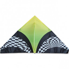 Premier Kites 56 in. Delta Kite - Green Op Art