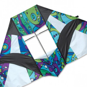 PREMIER KITES 8.5 FT BOX DELTA KITE- COOL ORBIT