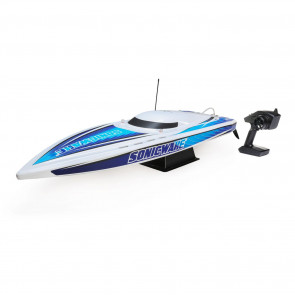"ProBoat Sonicwake 36"" Self-Righting Brushless Deep-V RTR, White"
