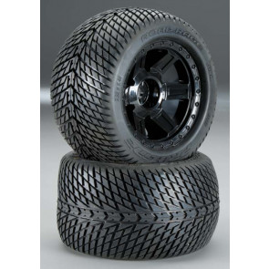 """Pro-Line Road Rage 3.8"""" Mounted F/R Street Tires"""