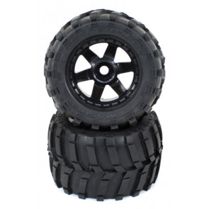 "Pro-Line Masher 3.8"" All Terrain Tires Mounted Desp Blk"