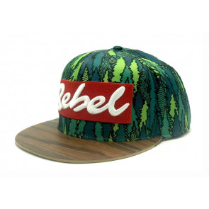 Rebel Fly Trees Edition Wood Brim Hat