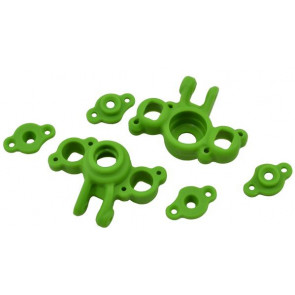 RPM R/C PRODUCTS - GREEN AXLE CARRIERS FOR TRAXXAS 1/16TH SCALE VEHICLES