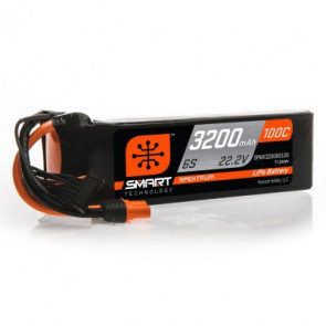 Spektrum 3200mAh 6S 22.2V 100C Smart LiPo Battery; IC3