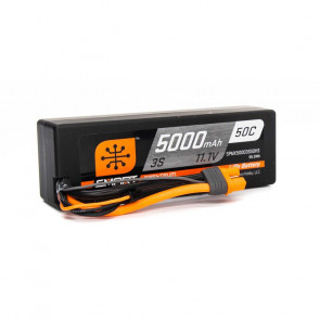 Spektrum 11.1V 5000mAh 3S 50C Smart Hardcase LiPo Battery: IC3