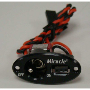 MIRACLE RC Single Oval Switch BLACK