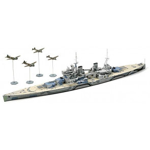Tamiya - 1/700 British Battleship Prince of Wales Plastic Model Kit