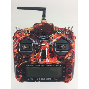 FrSky Taranis X9D Plus Transmitter SPECIAL EDITION w/ M9 Gimbals - Blazing Skull